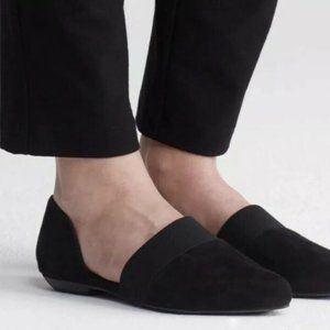 Eileen Fisher Flute Black Suede Pointy Toe Shoes